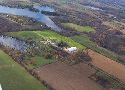 Bird's eye view of Northern Lakes Farm